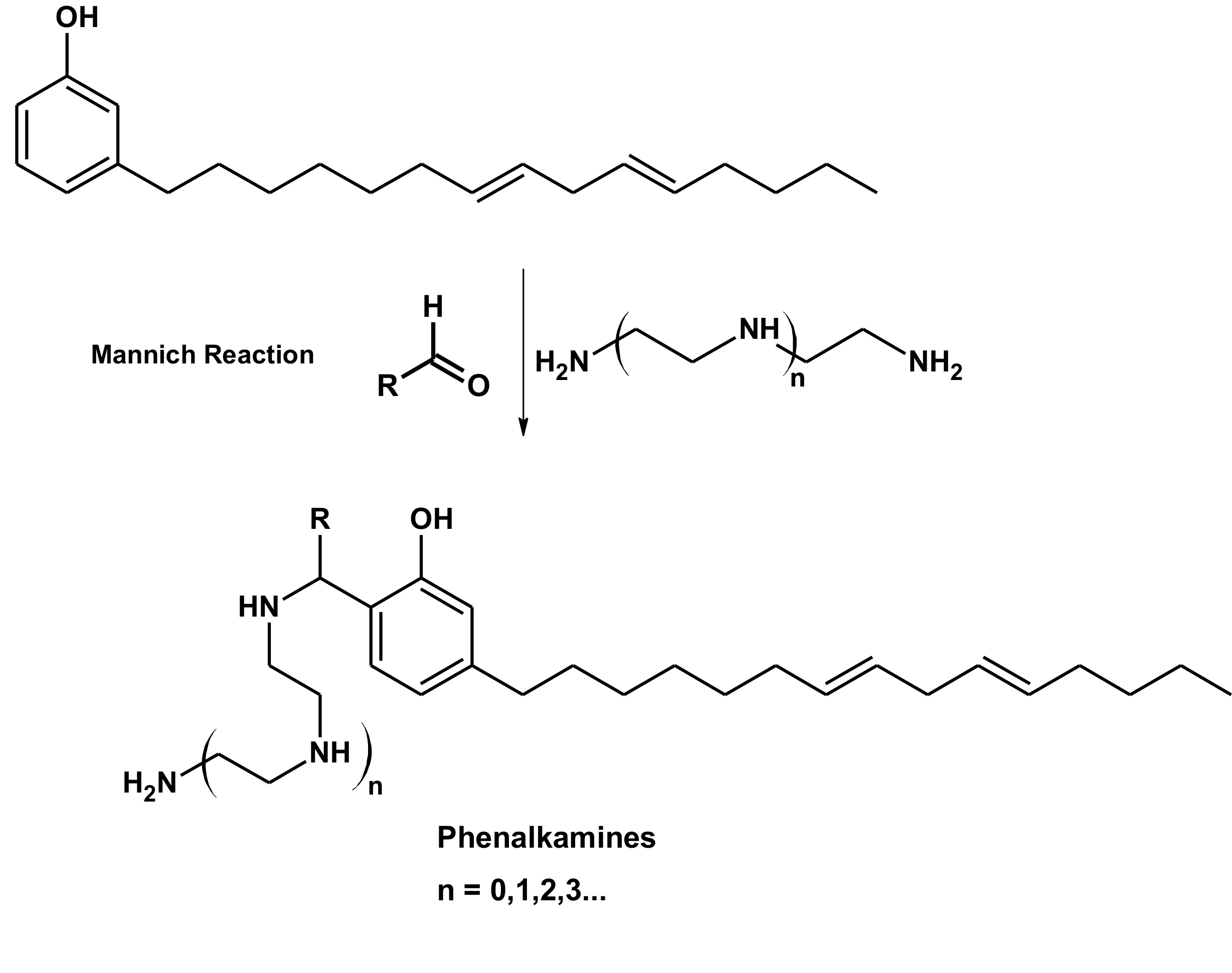 phenalkamines diagram - mannich reaction