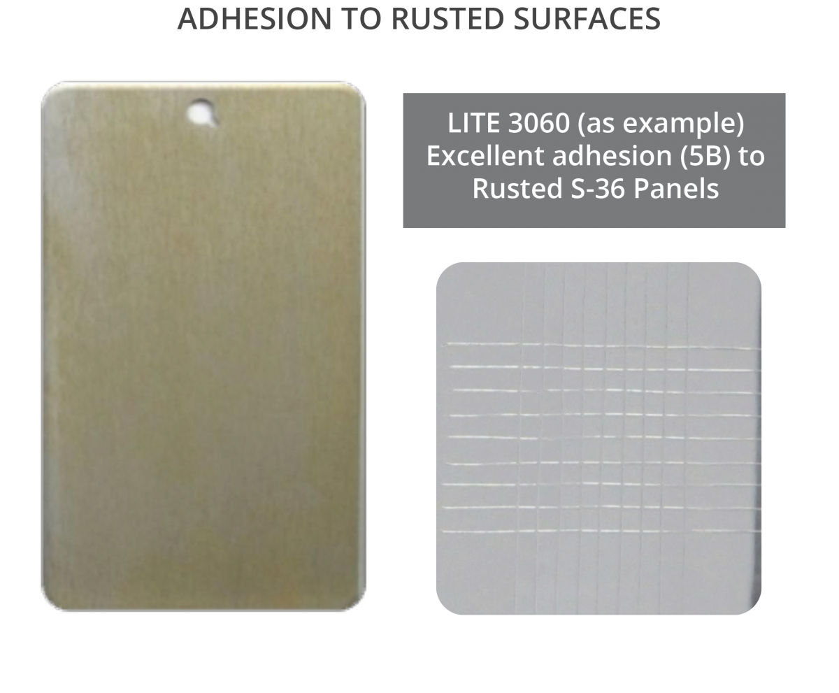 Cardolite phenalkamides show excellent adhesion to rusted substrates